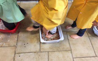 """Laboratorio """"I 5 SENSI"""" - Percorso sensoriale con i piedi"""